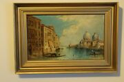 Antique Oil On Canvas William George Meadows The Grand Canal Venice