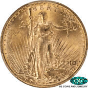 1910 St. Gaudens 20 Gold Double Eagle Pcgs Ms64 Cac 2270