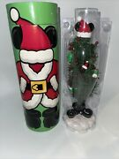 """Mickey Mouse Mailable Christmas Tree W Ornaments Disney Parks New 12 1/2"""" Tall"""