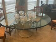 Henredon Round Glass 72 Dining Table