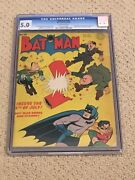 Batman 18 Cgc 5.0 Ow Pages Classic Hitler Cover- 1943 + Magnet