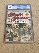 Wonder Woman 7 Cgc .5 With Rare White Pages Classic Cover Cgc 001 + Magnet