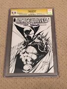 Image United 1 Cgc 9.9 Mint White Pages Sketch Cover Ss Todd Mcfarlane + Magnet
