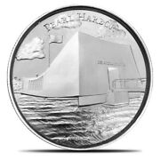 Pearl Harbor Ultra High Relief .999 Silver 2 Oz Round American Landmarks Series