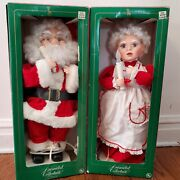 Vintage Animated Collectible Santa Clausandmrs Claus Christmas Set. Working Condit