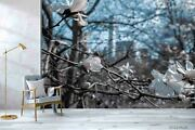 3d Blossom White Floral Self-adhesive Removeable Wallpaper Wall Mural 1923