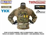Plate Carrier With Pouches Tactical Body Armor Cummerband Molle Mag Edc Pouch