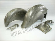 Indian Chief Front And Rear Raw Mudguard Set With Chain Guard Post War Model