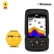 Wireless Sonar Fish Finder Portable Rechargeable Depth Sounder Alarm Echo Lcd
