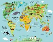 Map Wall Decals Kids Wall Stickers Wall Decor