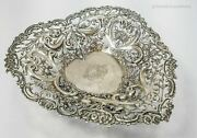 Antique William Comyns And Sons English Sterling Silver Reticulated Pierced Bowl