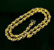 22kt Yellow Gold Handmade Lotus Chain Amazing Necklace Personalized Gift Ch258