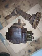 Vintage Fordson Super Major Diesel Tractor -front Pump And Drive Pulley