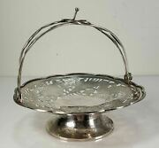 Fine Chinese Export Sterling Silver Reticulated Candy Dish Bon Bon Dragon