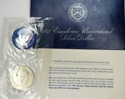 Silver Eisenhower Dollar -1973 S Uncirculated - Us Mint Issued Blue Ike