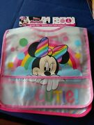 New Disney Minnie Mouse Pocket Bibs Toddler Water Resistant 2-pack