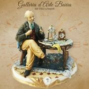 Capodimonte Porcelain A Watchmaker D' Other Stroke That Realism