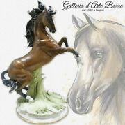 Capodimonte Porcelain Horse Rampante. The Fusion On The Beauty And Realism
