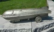 Vintage Gotham Pressed Steel Corp Ny Little Giant Zeppelin Blimp Plane Pull Toy