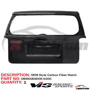 For 2008-2015 Scion Xb Vis Racing Oe Style Carbon Fiber Rear Tail Lift Gate Door