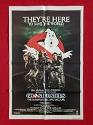 Ghostbusters 1984 Original Movie Poster Rare Style Stay Puft Ecto-1 Halloween
