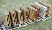 Highly Decorative Antique Cast Iron Steam Hot Water Radiators Lot Of 8