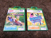 Leap Frog Leap Tv Dance And Kart Racing 4-7 Year Educational Active Game Lot