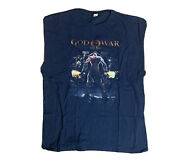 God Of War 3 Playstation 1 Video Game Promo T Shirt 2xlt Cut Off Sleeves