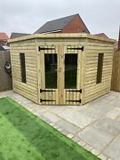 Garden Shed Corner Summer House Tanalised Ultimate Heavy Duty 10x10 22mm Tandg 3x2