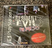 Resident Evil 3 Nemesis With Dino Crisis Demo Playstation Ps1 Factory Sealed New