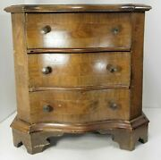 Antique Ethan Allen Made In Italy Veneered Small Jewelry Silver Chest Drawers