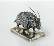 Antique Fine Sterling Silver Porcupine Toothpick Holder English Or Continental