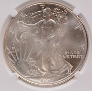 Ngc 1 2004 Silver Eagle Double-struck 2nd Partial Collar Ms65