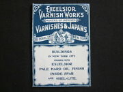 1890and039s New York City Excelsior Varnishes And Japans Hard Oil Illustrated Brochure