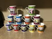 The Danbury Mint Peanuts Collector Coffee Mugs Months Charles Schulz New 11 Cups
