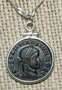 Constantine The Great Son Constantine Ii Authentic Coin Pendant Silver Necklace