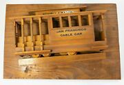 Vintage Carved Wooden Wall Decoration Streetcar San Francisco Powell And Mason