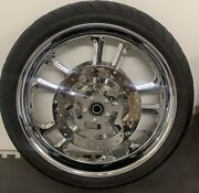 Harley 2014 -19 Front Custom Chrome Touring Wheel 21andrdquo Street Glide Rimoutright