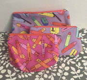 Clinique Crayola Cosmetic Bag Set Of 3 Makeup Accessory