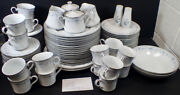92 Pc Lenox China Bouquet Collection Bluets Service For 16 And Serving Dishes