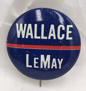 Vintage 1968 George Wallace Curtis Lemay Campaign Pin Button Pinback President