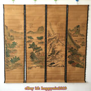 China Calligraphy Paintings Scrolls Old Chinese Painting Scroll Four Screen 9f2y