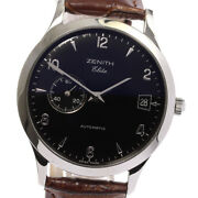 Zenith Class Elite Automatic 01.0125.680 Date Black Dial Automatic Menand039s_570971