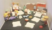 Peanuts Figures Set Pmi Snoopy Christmas Show Toy Lot 2003 Musical Light Up