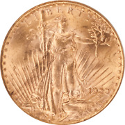1923 Saint St. Gaudens 20 Gold Double Eagle Ogh Pcgs Ms 61 Old Holder