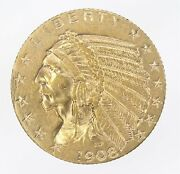 1908-s Indian Half Eagle Gold 5 Ws477