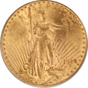 1928 Saint St. Gaudens 20 Gold Double Eagle Ogh Pcgs Ms 61 Old Holder