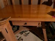 German Kitchen Pine Table With 2 Chairs And Corner Cabinet Price Reduction