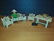 Playmobil Victorian Mansion Patio Set Bench Chairs Lady Little Girl Part Of 5323