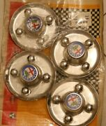 Wheel Covers For Classic Alfa Romeo Vintage Made In Italy -unused Plastic